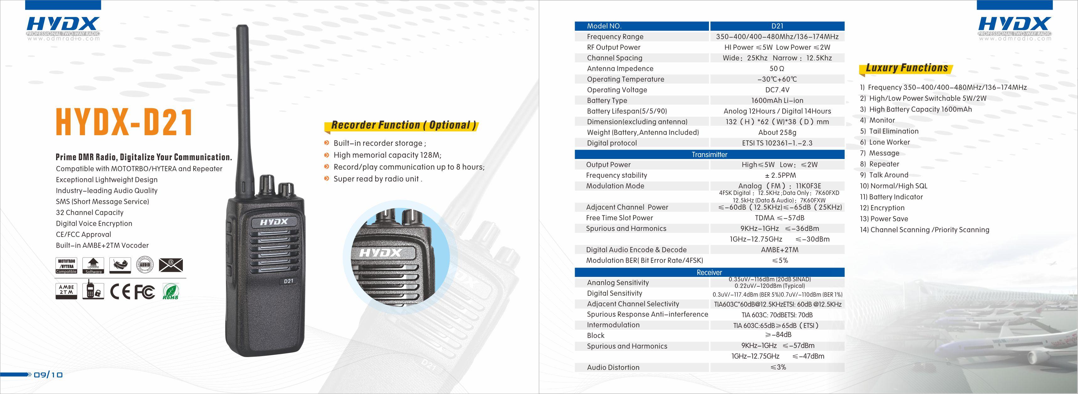 Professional DMR /dPMR Digital Radio Manufacturer